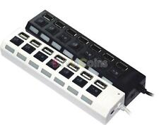 Durable Nuevo 7 Puerto ON / OFF Interruptor 2.0 HUB USB Hi-Speed Laptop PC -DF
