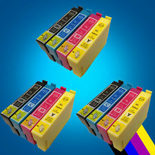 12 Ink Cartridges for Epson Printers - Stylus/ Workforce/ Expression Home Series