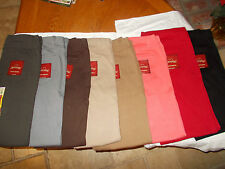 **Faded Glory Stretch knit Jeggings/leggings coral red black brown camel grey