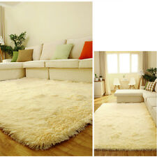 Home Fluffy Anti-skid Shaggy Area Rug Dining room Carpet Comfy Bedroom Floor Mat