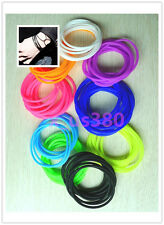 Fashion 5Pcs silicone elastic rubber band Bracelet wristband Bangles #2