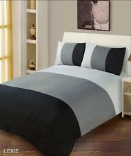 Plain Duvet Cover with Pillowcase Quilt Cover Bedding Set Single Double King