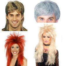 Smiffy's Men Women Mullet Wig Highlights for Party One size halloween fake hair