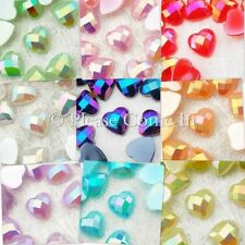 8mm Heart Glossy Pearl Rhinestone Flat Back Scrapbooking Wedding