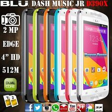 Blu Dash Music Jr D390X 4.4 Kit K Unlocked GSM Dual SIM Android Phone Colors New