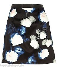 River Island – Floral Print Blue Mini Skirt – Bloggers FAV - Last Few Sizes!