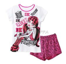 NWT Girls Kids Monster High T-Shirt Top Pants Sleepwear Night Wear Pajama 4-14Y
