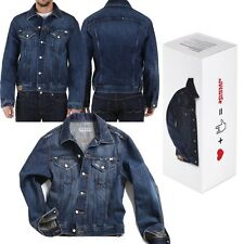 Jesus Jeans Giubbotto Giacca Bottoni regular fit Uomo Donna Denim Corto Moda