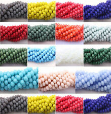 New Faceted 20/50Pcs Czech Glass Faceted Rondelle Bead DIY Making 4 6 8 10 MM