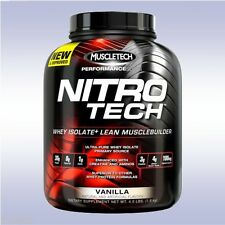 MUSCLETECH NITRO-TECH (4 LB) whey isolate protein powder creatine aminos bcaa
