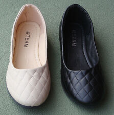 Women Ballet Flats Ballerina Slippers Faux Leather Slip On Round Toe Shoes HO15W