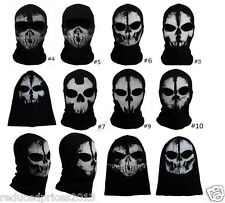 Call of Duty Ghost Skull Face Mask Cosplay Balaclava Skateboard Bike Hood New