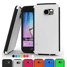 For Samsung Galaxy S6 Hybrid Rubber ShockProof Protective Hard Case Cover Skin