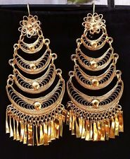 Mexican Filigree Earrings Handmade From Oaxaca Style#7903. Aretes de Filigrana.