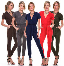 Sexy Ladies Women Cocktail Evening Party V Neck sOFT Jumpsuit Romper Pants S-4XL