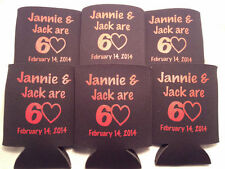 60th Birthday Koozies Design 122522208 lot of 25 to 100 Personalized Custom