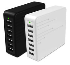 7-Port USB AC Power Desktop Adapter Charger For iPhone Tablet PC Andriod Phone
