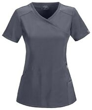 Scrubs Cherokee Infinity Mock Wrap Top 2625A PWPS Pewter  FREE SHIPPING!