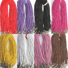 Hot 5/10/20/50Pcs Leather Braid Rope  Cord Lobster Clasp Chain Necklace 46cm