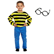 Kids Childrens Odlaw Baddie Yellow Black Costume Jumper Glasses Hat Book Day
