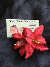 Pin Up Double Lily Hair Flower/Wedding/Rockabilly/5 colours to choose from