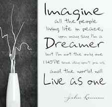imagine john lennon vinyl wall decal home decoration quote sticker US seller
