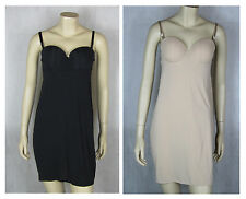 M&S Women Control Shaping Slip  Padded  B C D DD  Black & Natural RRP £29.90