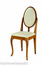 Antique Oak French Style Dressing Table/ Bedroom Chair with Cabriole Legs