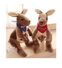 New arrival cute plush toy lovely scarf Kangaroo stuffed doll birthday gift 1pc