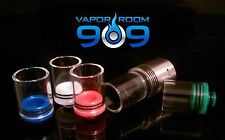 Wide Bore 18.5mm Diameter Pyrex Glass & POM Drip Tip FREE SHIPPING US SELLER!!