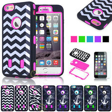 New 4-Type Colorful Hybrid Rugged Rubber Case Cover for iPhone 6 / iPhone 6 Plus