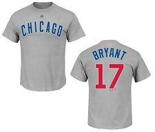 Chicago Cubs Kris Bryant Road Gray Name and Number T-Shirt