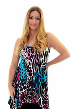 Womens New Top Ladies Camisole Tank Top Abstract Animal Print Nouvelle Plus Size