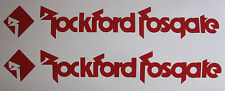 x2 Rockford Fosgate Vinyl Decals / Stickers  ~Choose from 23 Colors~ two