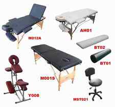Portable Massage Table Beauty Salon Tattoo Therapy Couch Bed Chair Stool Bolster
