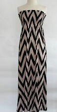 Maxi dress smocked tube top strapless long dress elastic stretch comfy cotton