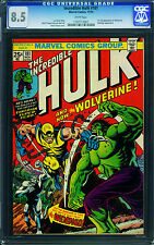 Incredible Hulk #181 1974  Cgc Graded 8.5 White pages 1st Wolverine Bronze Key