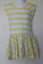 NEW Baby Girls Gorgeous Spotty Striped Dress Age 12-18, 18-24 Months *FREE P&P*