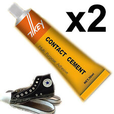 Contact cement glue adhesive rubber leather fabrics patch sole heel shoe repairs