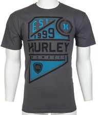 HURLEY Mens T-Shirt MOVE UP Graphic CHARCOAL Skate Surf BKE Buckle M-3XL $30