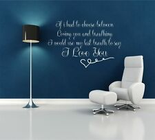 I LOVE YOU HIS HERS WALL ART WALL QUOTE STICKER DECAL MURAL STENCIL VINYL PRINT