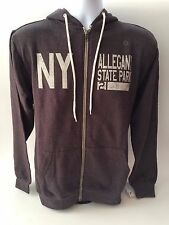 Allegany State Park Full Zip Hooded Sweatshirt (Charcoal Gray NY)