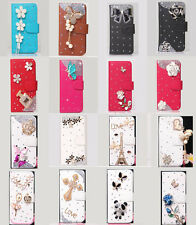Shine Diamond Flower Tassel Wallet Leather Flip Case Cover for LG Cell Phone