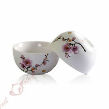 50ml GongFu Tea Porcelain Ceramic JingDe Chinese FlowerBird White teacup tea Cup