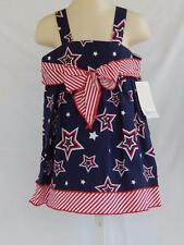 Bonnie Jean NEW dress baby girl 12 / 24 mos patriotic July 4th red white blue
