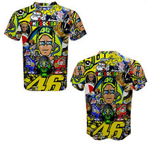 Valentino Rossi VR46 The Doctor Fans Best Quality Full 3D Print Sport T-Shirt