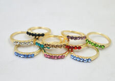 5pcs/ Wholesale lots  Crystal Rhinestone The rose gold ring Jewelry Mixed Sizes