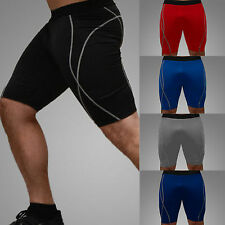 Mens Athletic Apparel  Fit Shorts Stretch Thermal Workout Pants Skin Sports GYM