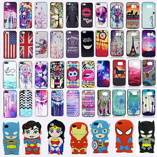 3D Cartoon Superhero Soft Silicone Rubber / Hard Case Cover For Apple Samsung S6