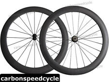 NEW Carbon Road Bicycle Wheel 60mm Clincher/Tubular Powerway R13 Ceramic Hubs
